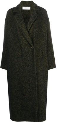 Societe Anonyme Oversized Herringbone Coat