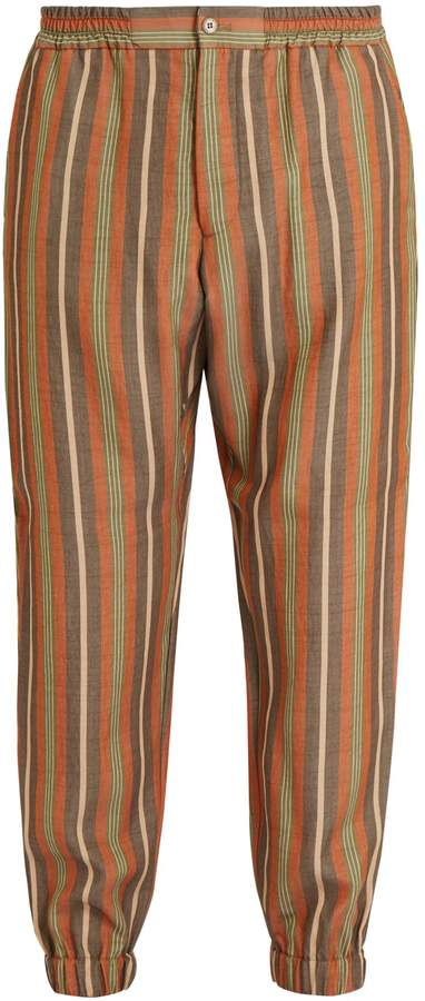 Etro Striped elasticated-waist trousers