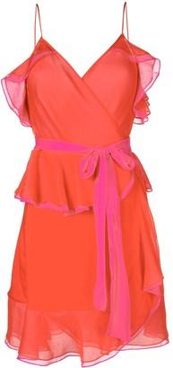 Diane von Furstenberg ruffle-trim shift dress