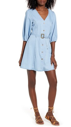 Vero Moda Clarisa Belted Chambray Dress