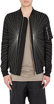Rick Owens Men's Cotton-Blend Embroidered Flight Bomber Jacket