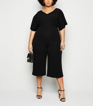 New Look Mela Curves V Neck Culotte Jumpsuit