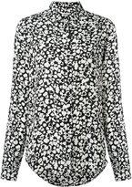 Saint Laurent heart print shirt - women - Silk - 38