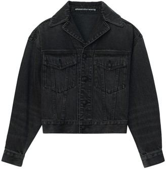 Alexander Wang Grey Aged Denim Jacket