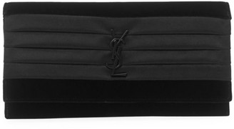 Saint Laurent Smoking Satin Clutch