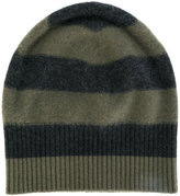 Vince cashmere striped beanie