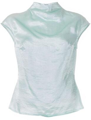 ANNA QUAN Krista funnel neck blouse