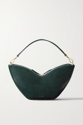S.JOON Tulip Lizard-effect Leather Shoulder Bag - Emerald