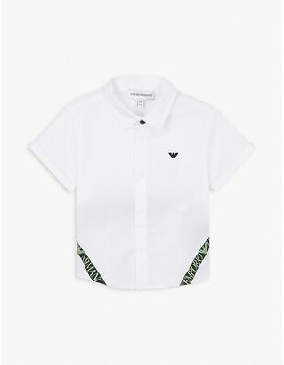 Emporio Armani Logo-print stretch-cotton shirt 6-36 months