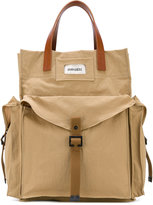 DSQUARED2 military tote - men - Polyimide/Calf Leather/Cotton - One Size