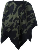 Hydrogen camouflage cape scarf