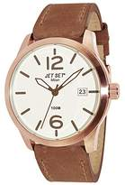 Jet Set J6380R - 656-Milan Men's Watch Analogue Quartz White Dial Brown Leather Strap