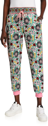 Alice + Olivia NYC Floral-Print Slim Jogger Pants