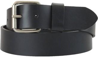 Montauk Leather Club 1-1/2 in. US Steer Hide Harness Leather Men's Belt w/ Antq. Nickel Roller Buckle
