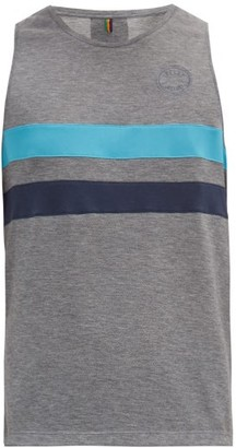 Iffley Road Lancaster Striped Technical-jersey Tank Top - Grey Multi