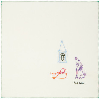 Paul Smith Off-White Pauls Drawing Pocket Square