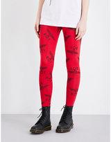 Boy London Logo-print Mid-rise Stretch-cotton Leggings