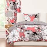 Crayola Flower Patch 2-Piece Reversible Twin Comforter Set in Pink/Grey