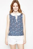 Jack Wills Grinton Floral Print Sleeveless Top