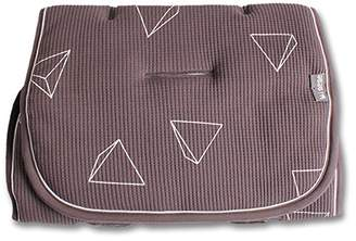 Minene Reversible Pushchair Liner, Light Grey with Triangle