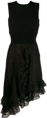 Alexander McQueen Asymmetrical Draped Knit Dress