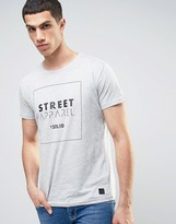 Solid Longline T-shirt With Logo