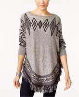 Style&Co. Style & Co Fringe-Hem Tunic Sweater, Created for Macy's