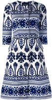 Samantha Sung printed flared dress - women - Cotton/Spandex/Elastane - 2