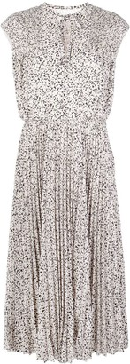 Jason Wu Sleeveless Pleated Midi Dress