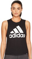 adidas Speckled Badge Of Sport Boxy Tank Top Women's Sleeveless