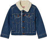 Levi's Denim Trucker Jacket With Teddy Lining
