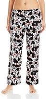 Disney Women's Ladies Plush Pants Mickey