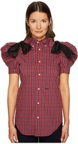 DSQUARED2 Check Cotton Puff Short Sleeves Shirt Women's Clothing