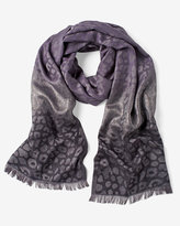 White House Black Market Animal-Jacquard Scarf