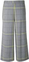 Fabiana Filippi checked cropped trousers - women - Cotton/Polyester/Mohair/Merino - 40