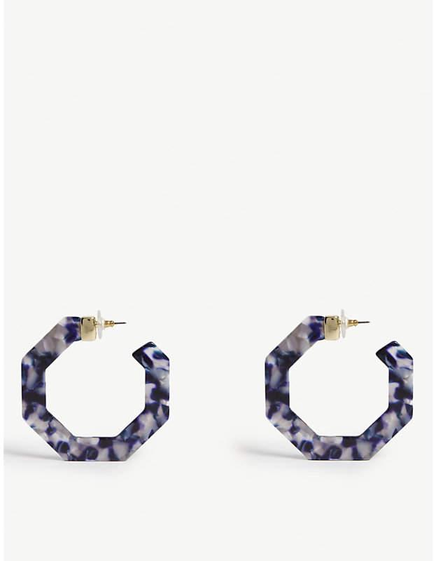 BaubleBar Dex Resin hoop earrings
