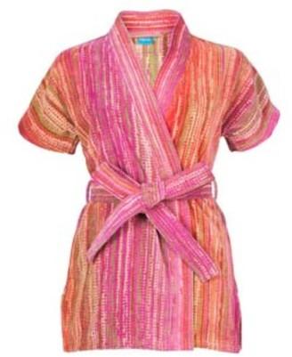 Elaiva Pink Grass Beach Kimono