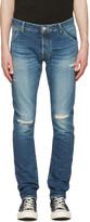 Attachment Indigo Distressed Skinny Jeans