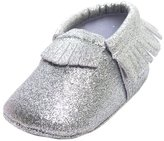 Zhengpin Baby Girl Shinny Bright Soft Sole Shoes Moccasin Anti-Slip Prewalker