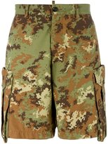 DSQUARED2 camouflage shorts - men - Cotton/Polyamide - 48