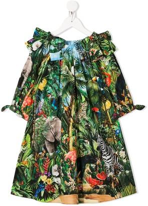 Dolce & Gabbana Kids Jungle Print Short Dress