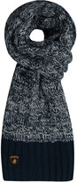 Yours Clothing SANTA MONICA Navy Knitted Scarf