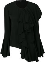 Tom Ford georgette ruffle blouse