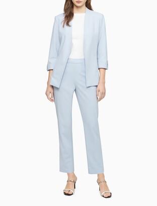 Calvin Klein Roll-Tab Open Front Suit Jacket