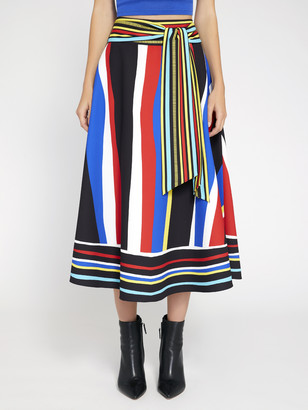 Alice + Olivia Blair Striped Midi Skirt