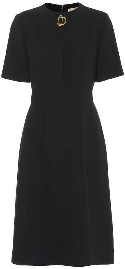 Burberry Silk and wool crepe dress