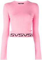 Versus logo hem jumper - women - Polyester/Viscose - 36