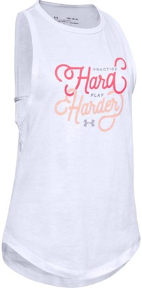 Under Armour Girls' UA Verbiage Graphic Tank