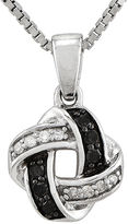 FINE JEWELRY 1/8 CT. T.W. White and Color-Enhanced Black Diamond Sterling Silver Celtic Knot Pendant Necklace
