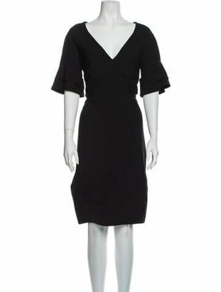 Celine Vintage Knee-Length Dress Wool